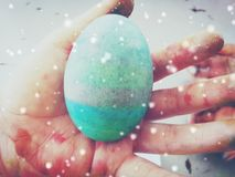 An Easter egg from Sunday school students stock photos