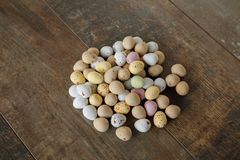 Easter egg sweets royalty free stock images
