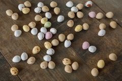 Easter egg sweets stock image