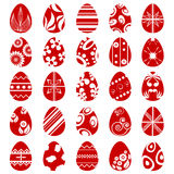 Easter egg symbol set Royalty Free Stock Photos