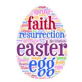 Easter Egg Tag Cloud Stock Images