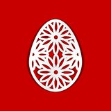Easter Egg. Template for laser cutting, wood carving, paper cut and printing.  stock illustration