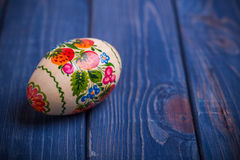Easter egg traditional Ukrainian Russian background Stock Photos