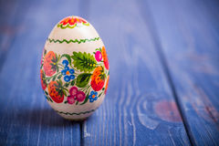 Easter egg traditional Ukrainian Russian background Stock Images