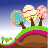 Easter egg trees Stock Image