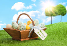 Easter Egg Trug Royalty Free Stock Photography