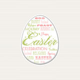 Easter egg typographical background Royalty Free Stock Images