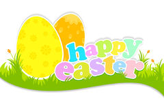 Easter Egg with typography. Happy Easter typography with Easter egg Stock Photo