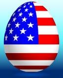 Easter egg with USA flag Stock Photography