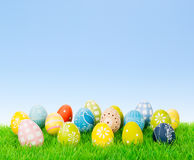 Easter egg collection with copy space Royalty Free Stock Image
