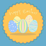 Easter egg vector card Royalty Free Stock Images