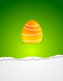 Easter egg vector green background Royalty Free Stock Photography