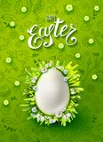Easter Egg vector poster Royalty Free Stock Photo