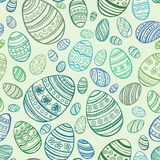 Easter Egg. Vector seamless pattern. EPS 10 Stock Image