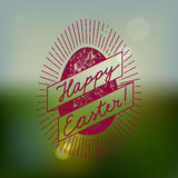 Easter egg vintage label. vector illustration Stock Images