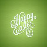 Easter egg vintage lettering design background Stock Photo
