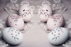Easter egg in vintage style Royalty Free Stock Photos