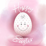 Easter egg on a watercolour background Royalty Free Stock Photo