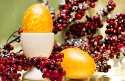 Easter Egg With Berries Royalty Free Stock Images