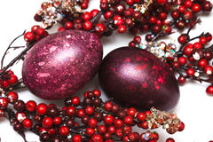 Easter Egg With Berries Stock Images