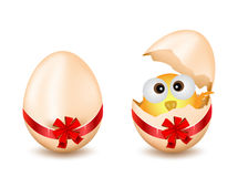 Easter Egg With Chicken Royalty Free Stock Images