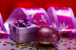 Easter Egg With Gift Box Royalty Free Stock Image
