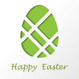 Easter Egg With Text Royalty Free Stock Photography