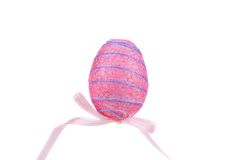 Easter egg on wooden stick. Royalty Free Stock Photography
