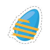 easter egg wrapped yellow ribbon - cut line Stock Image