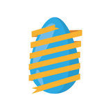 easter egg wrapped yellow ribbon decoration Stock Photography