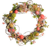 Easter egg wreath royalty free stock photography
