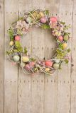 Easter egg wreath stock photos