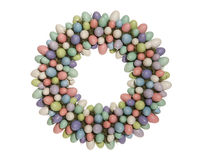 Easter Egg Wreath. A colorful Easter egg wreath isolated over white Royalty Free Stock Photo
