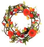 Easter egg wreath. Studio isolated on white stock photos