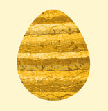 Easter egg with yellow fabric Stock Photo