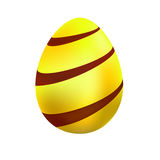 Easter egg. Yellow easter egg with red stripes on a white background Vector Illustration