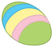 Easter egg3. Illustration of a decorated easter egg Stock Images