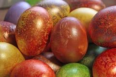 Easter eggs – handmade Stock Images