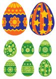 Easter eggs 03. Collection of Easter painted eggs isolated on white background Royalty Free Stock Photo