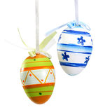 Easter eggs. On white background Royalty Free Stock Photos