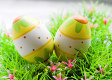 Easter eggs. Two eggs stock image
