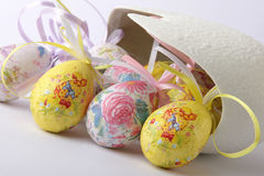 Easter Eggs. See colored easter eggs on white background Stock Photo