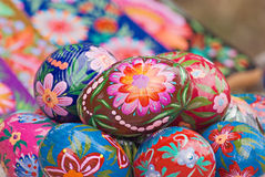 Easter eggs. Cheerful cluster of easter eggs Stock Image