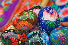 Easter eggs. Cheerful cluster of easter eggs Royalty Free Stock Images