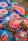 Easter eggs. Cheerful cluster of easter eggs Royalty Free Stock Image