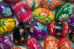 Easter eggs. Hand painted colorful Easter eggs Royalty Free Stock Images