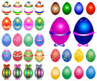 Easter eggs. Set of colorful easter eggs Royalty Free Stock Image