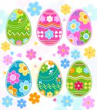 Easter eggs. Retro style illustration vector illustration