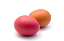 Easter eggs. Colored easter eggs isolated on white background Stock Photos