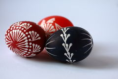 Easter eggs. Painted with wax Royalty Free Stock Photo